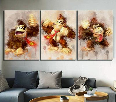 colorido cuadros gorila videojuego