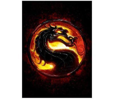 cuadro retro dragón videojuego